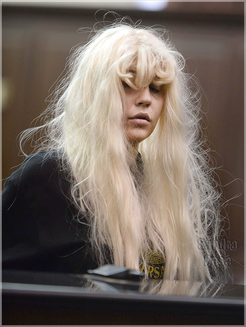 ** STRICTLY NO NY DAILIES**Amanda Bynes appears in court in NYC charged with allegedly throwing a bong from her apartment window