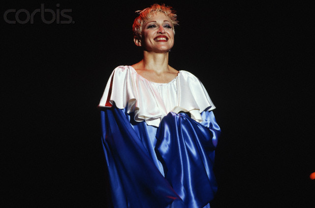 Madonna in Pierrot Costume on Stage