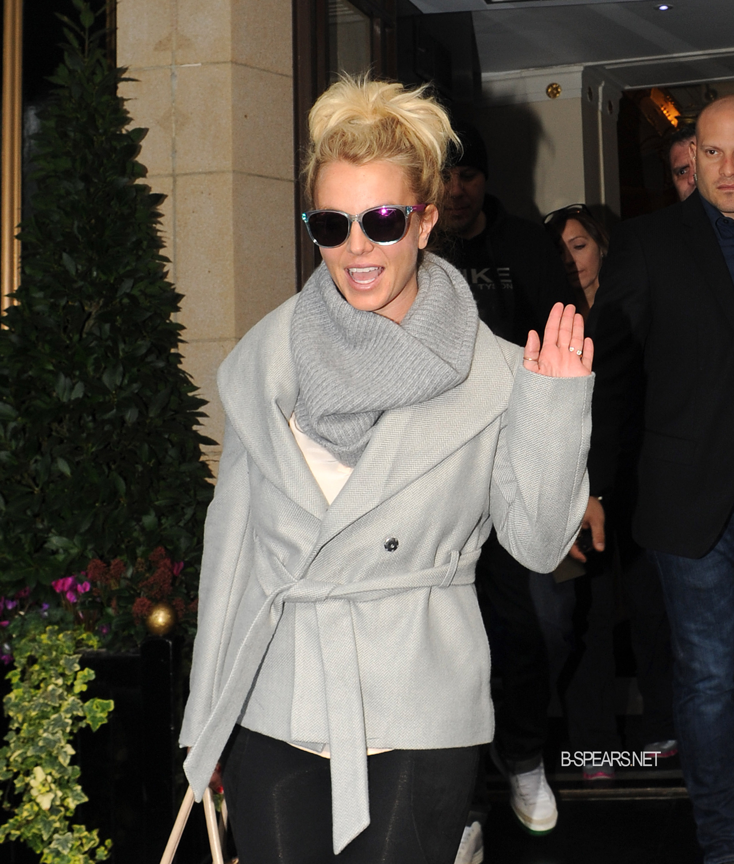 Britney Spears leaving the Dorchster hotel in London