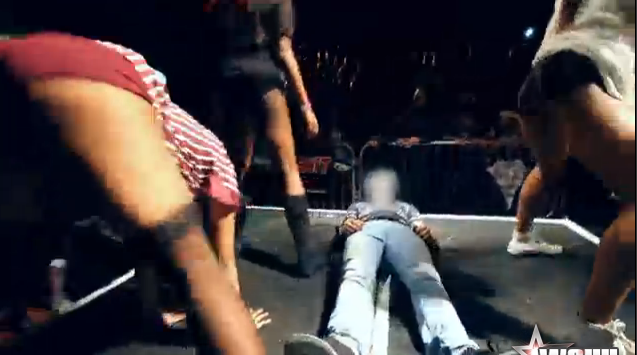 Guy Busts cums In His Jeans During Twerking Contest