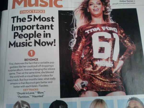 beyonce people most important music