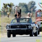 """Lea Michele filming """"On My Way"""" music video"""