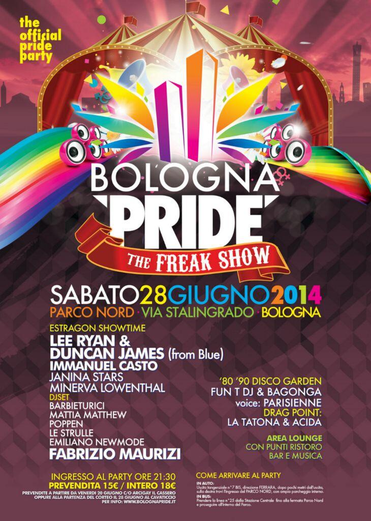 bologna pride lee ryan duncan james