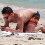 Tom Daley And Friends Enjoying A Day On The Beach In Miami