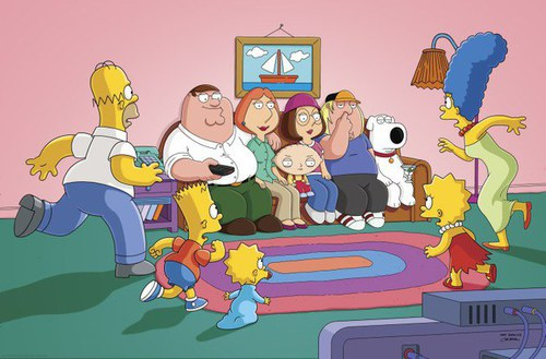 simpson family guy crossover griffin gif 5