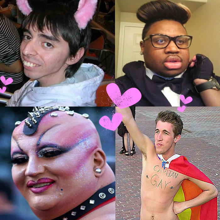 gay brutti ugly people