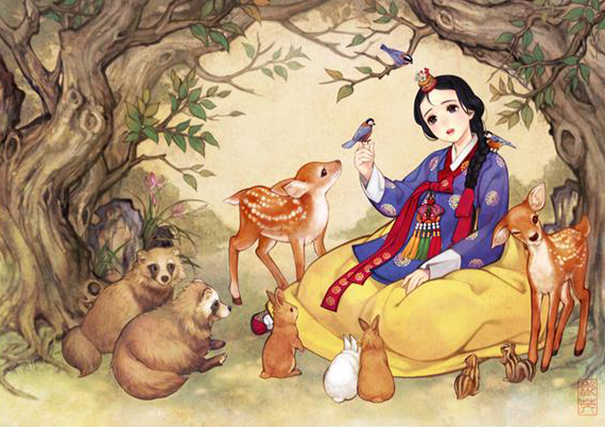 asian-korean-disney-remake-illustration-na-young-wu-1