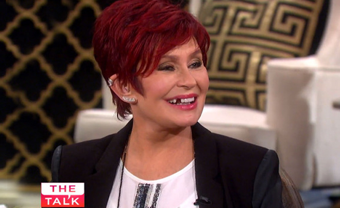 sharon osbourne teeth tooth dente the view the talk