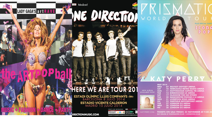 tour gaga perry one direction