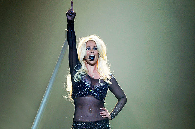 Britney Spears Performs During Her Britney: Piece Of Me Show At Planet Hollywood Las Vegas