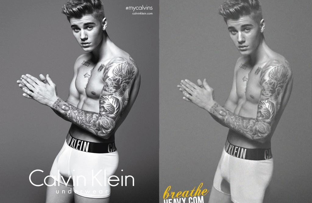 justin bieber real pic leaked calvin klein