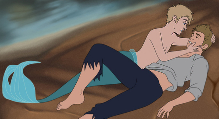 the little mermaid gay la sirenetta