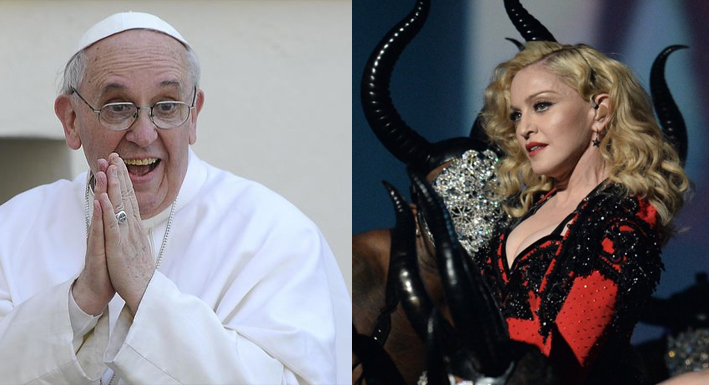 madonna papa francesco sesso billboard