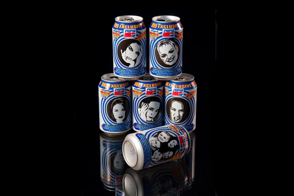 Spice Girls Pepsi Cans on Obsessionistas