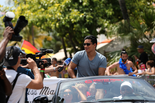 INF - Mario Lopez Waves To Fans As He Appears As Grand Marshal Of The Miami Beach Gay Pride Parade