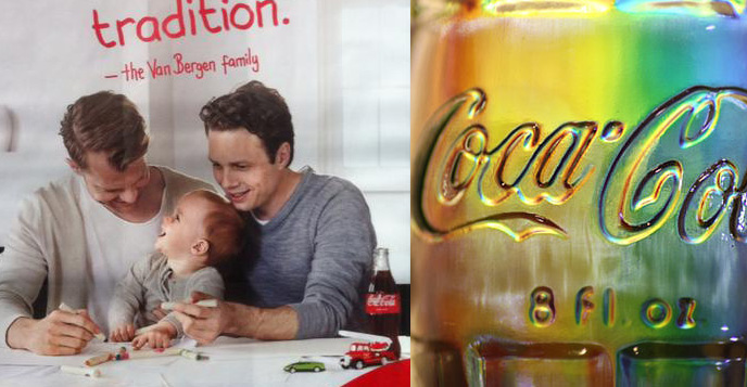 Coca Cola gay farhers dads mothers lgbt