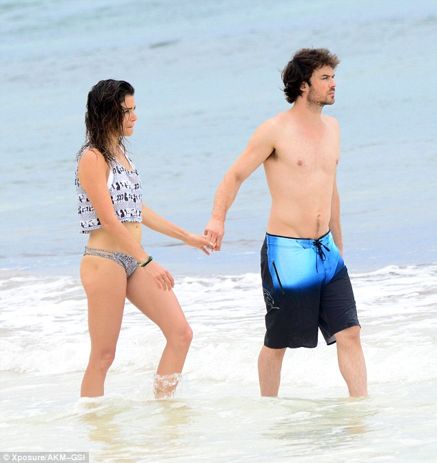 ian somerhalder honey moon beach