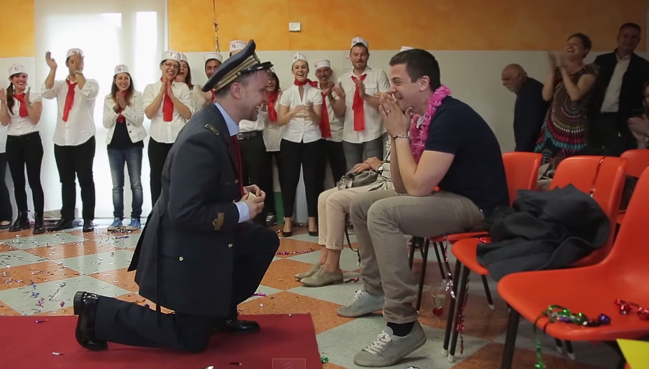 gay wedding proposal italian video
