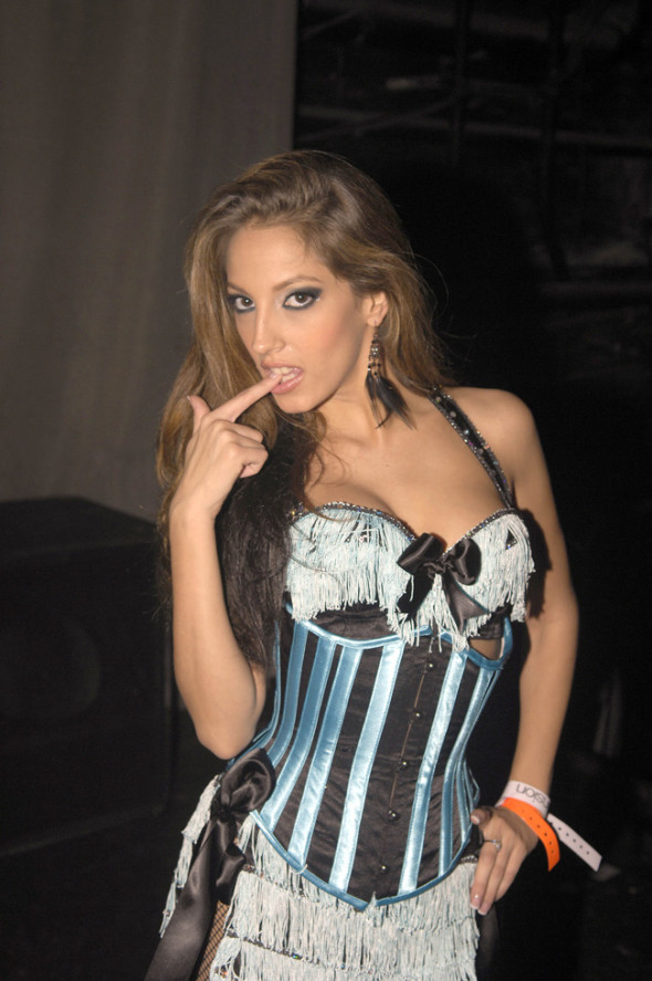 31 Oct 2006, Miami Beach, Florida, USA --- Adult film starlet Jenna Haze (AKA Jennifer Corrales) who was the AVN Awards Best New Starlet in 2003 hosts Halloween night at Mansion Nightclub. Pictured: Jenna Haze --- Image by © Brock Miller/Splash News/Corbis
