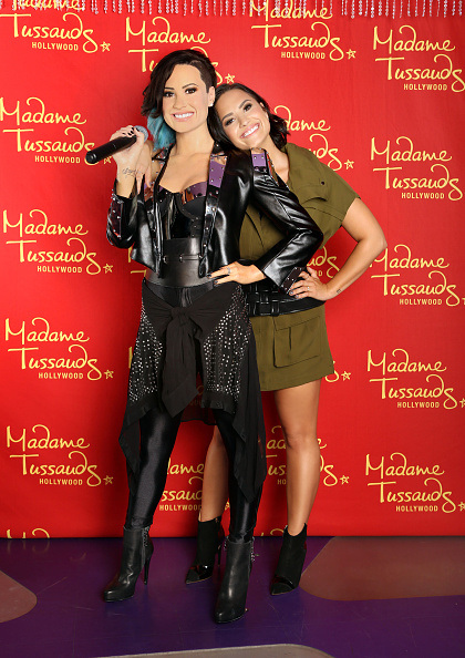 HOLLYWOOD, CA - AUGUST 17:  Demi Lovato receives the ultimate 23rd birthday gift from Madame Tussauds Hollywood: her own wax figure on August 17, 2015 in Hollywood, California.  (Photo by Rachel Murray/Getty Images for Madame Tussauds Hollywood)