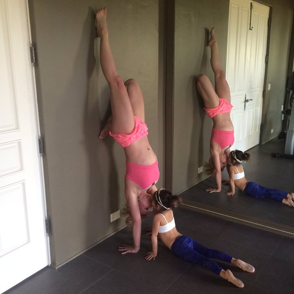 britney spears yoga