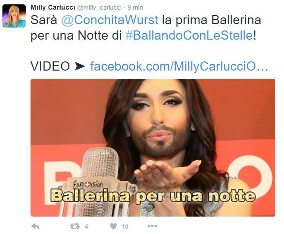 Milly Carlucci Conchita Wurst