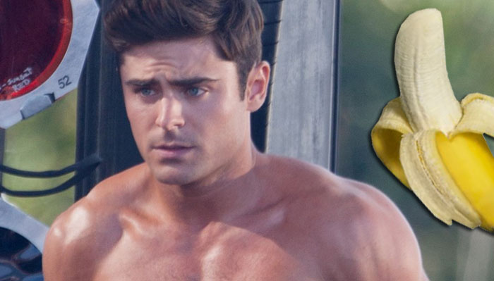 """Tybee, GA -  A studly-looking Zac Efron strips on stage while filming on the set of """"Dirty Grandpa"""".  His legendary co-star, Robert DeNiro, appeared onstage with him for the stripping scene.     AKM-GSI       April 30, 2015  To License These Photos, Please Contact :  Steve Ginsburg (310) 505-8447 (323) 423-9397 steve@akmgsi.com sales@akmgsi.com  or  Maria Buda (917) 242-1505 mbuda@akmgsi.com ginsburgspalyinc@gmail.com"""