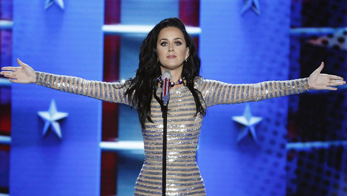 katy perry dnc hillary clinton